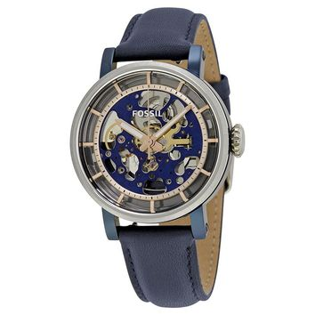 Fossil Original Boyfriend Automatic Skeleton Dial Mens Watch ME3136