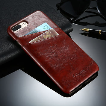 FLOVEME Leather Case For iPhone 5 5S SE 6 6S 7 Plus Phone Cases Luxury Card Holder Pocket For iPhone 7 6 6S Plus 5 5S SE Cover