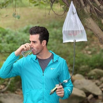 Water filter system with 2000 Liters filtration capacity for outdoor sport camping emergency survival tool