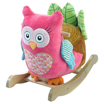Ride On Toys Pink Owl Rocker, One Size
