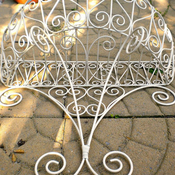 Large Vintage Iron Wall Pocket Planter, Victorian Garden, Rustic Farmhouse, Architectural Garden, Vintage Garden