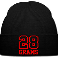 28 GRAMS RED beanie knit hat
