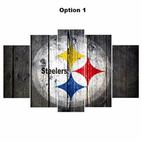 5 Panel Pittsburgh Steelers Sport Canvas ManCave