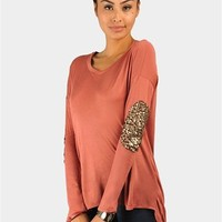 Beauty-Bow Patch Long  Shirt - Mauve at Necessary Clothing