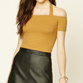 Striped Open-Shoulder Top