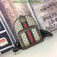 Gucci Gg Monogram Backpack