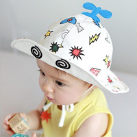 Airplane Hat Top Print Bucker Hat for Baby