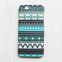 Green Black Aztec Pattern iPhone 6s Case iPhone 6 plus Ethnic iPhone 5S 5 iPhone 5C iPhone 4S/4 Case Native Galaxy S6 edge S6 S5 S4 Case 077