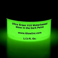 Ultra Green V10 Glow in the Dark Paint 1/2Oz