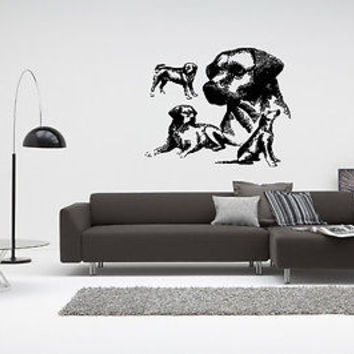 Labrador Retriever Puppy Breed Pet Animal Family Wall Sticker Decal Mural 2806
