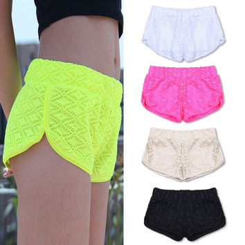 Crochet Laced Shorts