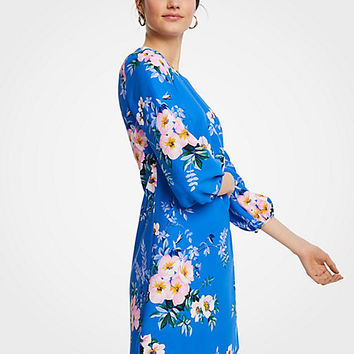 Poppy Lantern Sleeve Shift Dress | Ann Taylor