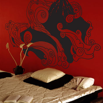 Japanese Mountain Artistic Wall Decal. #1059
