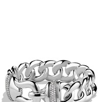 Women's David Yurman 'Buckle' Single-Row Bracelet with Diamonds