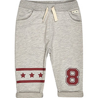 River Island Mini boys grey star joggers