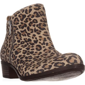 Lucky Brand Basel Side Zip Ankle Boots, Natural Leopard, 6.5 US / 36.5 EU