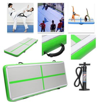 AirTrack Air Tumbling Track Training Gymnastics Mats Set Inflatable Balance Equipment Exercise 100*300*10cm with Manual Pump