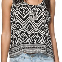 Trillium Diana Tribal Crop Tank Top