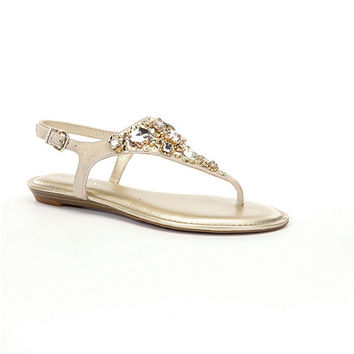 Gianni Bini Luissa Jeweled Sandals | Dillards