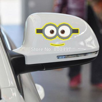 Newest Minions Despicable Me Funny Eyes Stickers Car Decal for Toyota  Chevrolet Volkswagen Tesla  Kia Lada