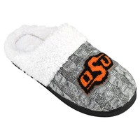 Oklahoma State Cowboys Letter Slippers - Women's (Grey)