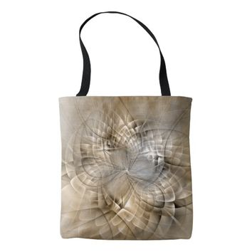 Earth Tones Abstract Modern Fractal Art Texture Tote Bag