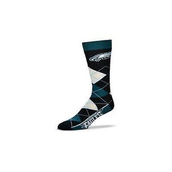 NFL Philadelphia Eagles Argyle Unisex Crew Cut Socks - One Size Fits Most