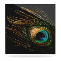 "Alison Coxon ""Peacock Black"" Luxe Square Panel"