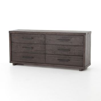 BERLIN 6 DRAWER DRESSER-BLACK