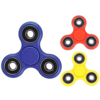 Fidget Spinner Desk Anti Stress Finger Spinner Spin Spinning Top Plastic EDC Sensory Toy Cube Gift for Children Kid Adults