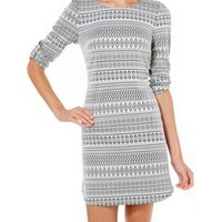 Speechless Juniors Tribal Print Roll Sleeve Dress | Bealls Florida