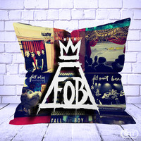 Best fall out boy collage Pillow cases cheap and best quality. *100% money back guarantee