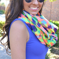 Bright In The Night Scarf: Neon/Multi | Hope's