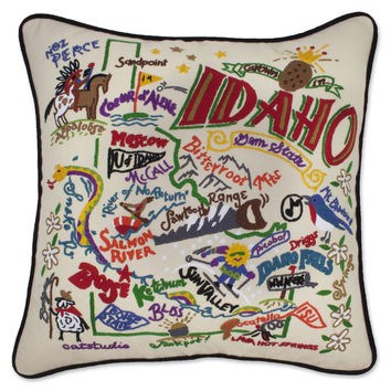 Idaho Hand Embroidered Pillow
