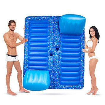 2-Person Swimming Pool Lounge Raft with Cup Holders by Sol Coastal. Face to Face