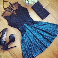 Summer Style Sexy Lace Hollow Dress