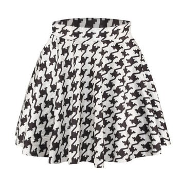 Plaid Printed 3D Casual Pleated Skirt