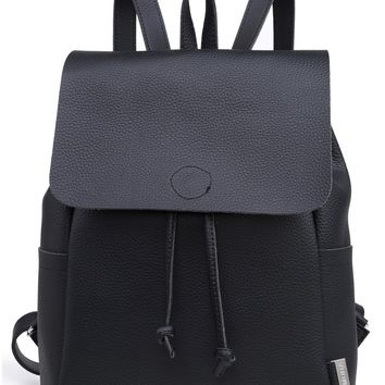 PURE SHORES BLACK RAW BACKPACK