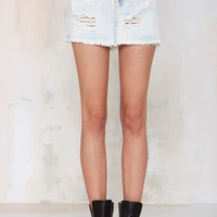 Glamorous So Wrecked Denim Skirt - Acid Wash