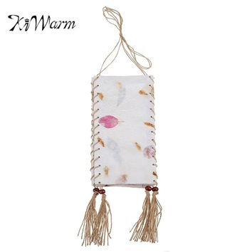 KiWarm Elegant Design Floral Thailand Handmade Hanging Lamp Shade Lamp Night Lights Home Garden Party Hanging Decoration Crafts
