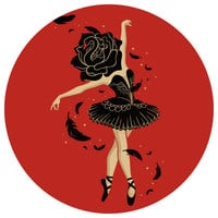 Enkel Dika's Black Swan Circle Decal