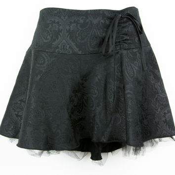 Rare Divided by H&M Black Brocade Mini Skirt w/ Tulle Size 6