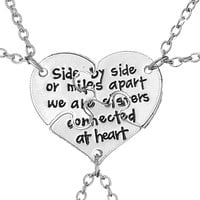 2017 New Trendy 3 PCS/Set Best Friends Heart Pendant Necklaces Love Letter Brothers Sisters BFF Choker Necklace For Men Women