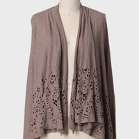 floral illusions cutout cardigan at ShopRuche.com