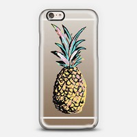 Pastel Party Pineapple Transparent iPhone 6 case by Organic Saturation | Casetify