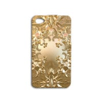 Kanye West Case Gold Case Cute Case iPhone 4 Case iPhone 5 Case iPhone 4s Case iPhone 5s Case iPod 4 Case iPod 5 Case Watch the Throne Case