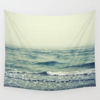Pistachio Beach Fog - Wall Tapestry