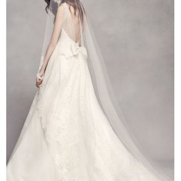 Scalloped Lace Edge Cathedral Veil - Davids Bridal