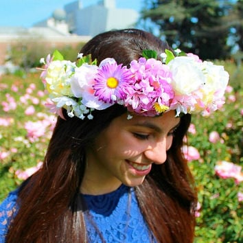 Flower Crowns, Flower Wreaths, Spring Flower Crowns, Floral Accessories, Coachella Headbands, Flower Girl Crowns, Coachella Accessories
