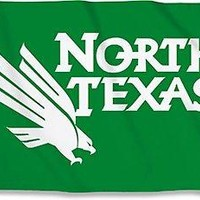 North Texas Mean Green 23203 3x5 Flag w/grommets Outdoor Banner University of